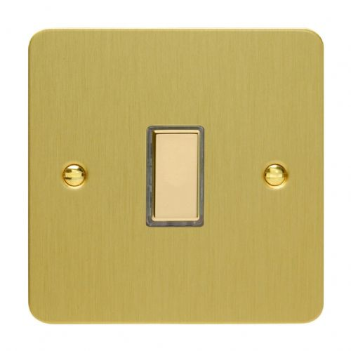 Varilight JFBES001 Ultraflat Brushed Brass 1 Gang Touch Dimming Slave (use with V-Pro Master)